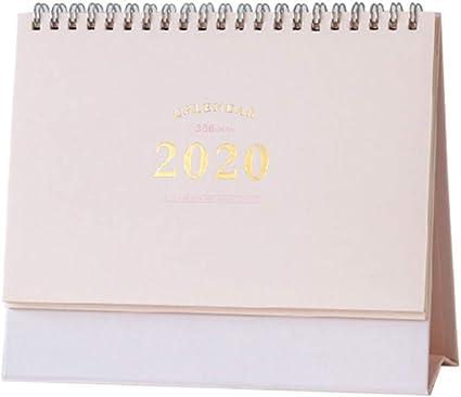 STOBOK Calendario de escritorio 2020 calendario de escritorio de ...