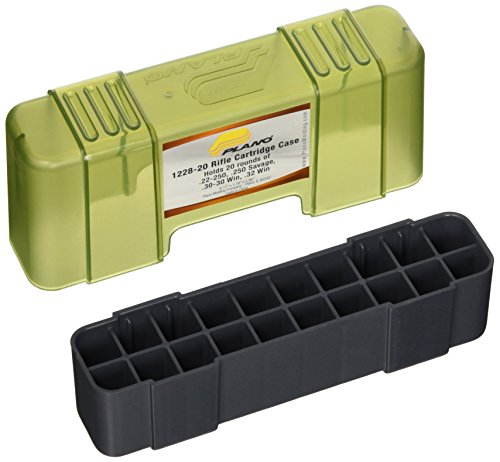 (Plano 20 Round Rifle Ammo Case with Slip Cover, Small)