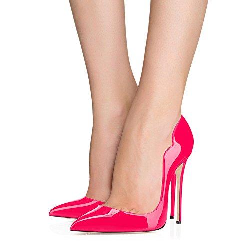 Pumps Sexy Spitz Farbverlauf Schuhe Lutalica Stiletto Lack Abend Frauen Hochzeit Pêche Heel xFzxqU