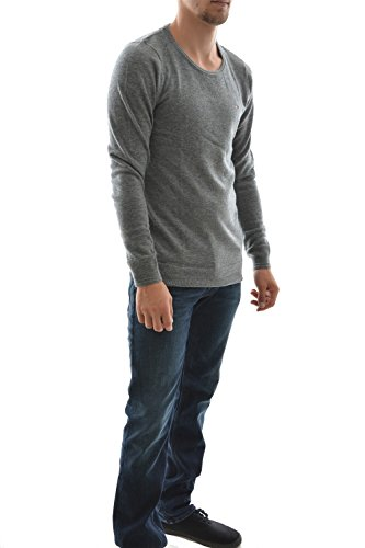pull hiver Hilfiger Denim basic cn sweater 8 gris