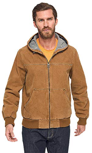 G.H. Bass & Co Men's Canvas Jacket (XLarge, Brown)
