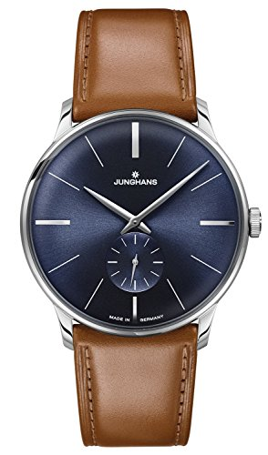 Junghans Meister Sunray Blue Dial Hand Wound Brown Leather Strap 027/3504