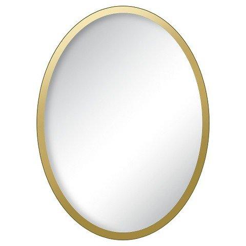 Locker Gold Oval Mirror - Gold Mirror