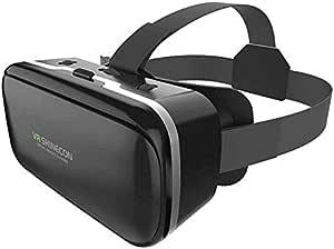 Rovtop 3D Glasses VR Box Virtual Reality Cardboard Headset Helmet for Smartphone Samsung Eyeglasses VR Devices for Games Z2 (Color : Only 3D Glasses)
