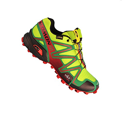 Salomon Grün Women's Rot Running Neon Trail 3 GTX Shoes Speedcross rr8wRqO