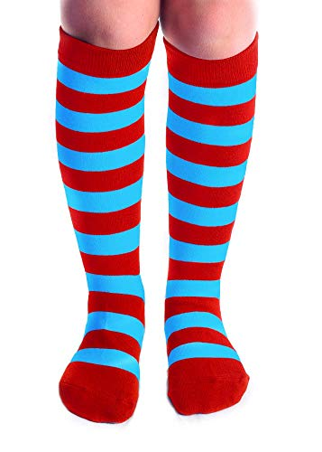 Child Size Red/Blue Striped Thing Knee Socks -
