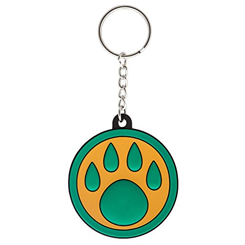 JINX World of Warcraft Monk Paw Rubber Key Chain (Green/Yellow, One Size)