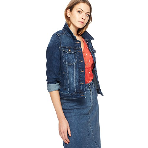 Denim Jacket Mantaray Blue Dark Womens PItqPxgv