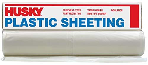 Husky CF0412-50C 4 ML Tyco Polyethylene Opaque Plastic Sheeting, 12' x 50', Clear