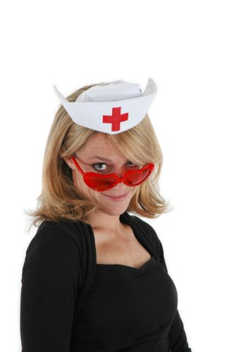 elope Nurse Costume White Hat for Women -