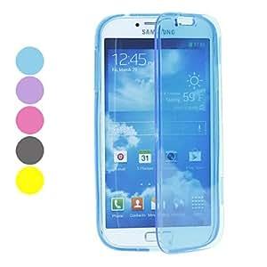 TY- Transparent TPU caso completo del cuerpo para Samsung Galaxy S4 i9500 (colores surtidos)