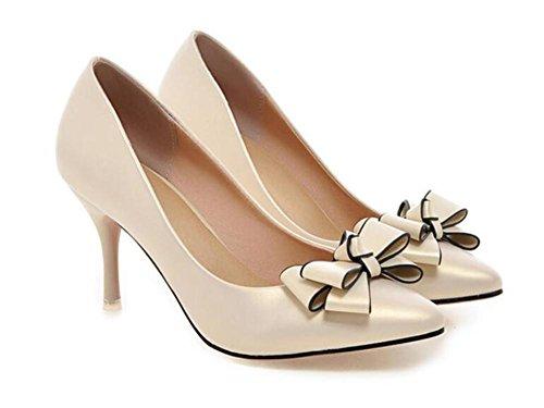 del Baja XIE Color Elegante los Sólido Dulce Corte Viento Planos Zapatos Fino de Altos del Apuntó Zapatos de de Talones los pie del los la Dedo la Boca APRICOT 43 37 con El Pink vnwqUvrO