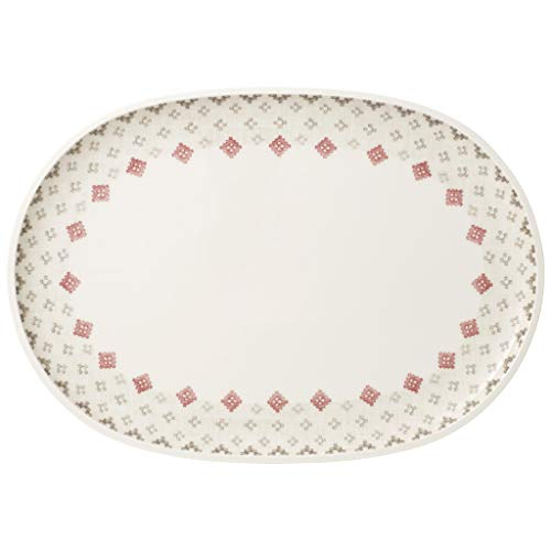 Artesano Montagne Oval Serving Plate by Villeroy & Boch - Premium Porcelain - Made in Germany - Dishwasher and Microwave Safe - 17 x 11.75 Inches ()