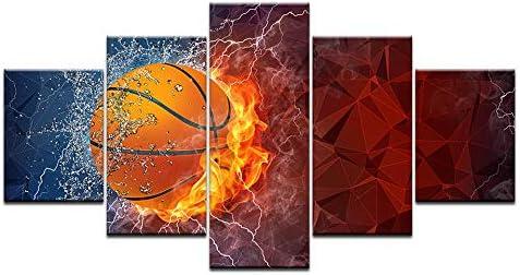 YDGG Arte de la Pared Pinturas sobre Lienzo 5 Piezas Baloncesto ...