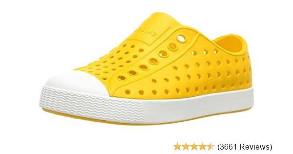 Bone White size c8 Native Kids Jefferson Slip On Sneaker Regatta blue