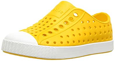 Native Kids Jefferson Junior Water Proof Shoes, Crayon Yellow/Shell White, 1 Medium US Little Kid