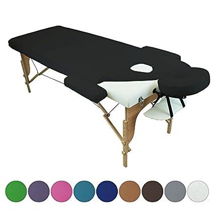 Linxor ® Massagetisch Schutzbezug, vierteilig, aus Frottee – 9 Farben – EG-Norm