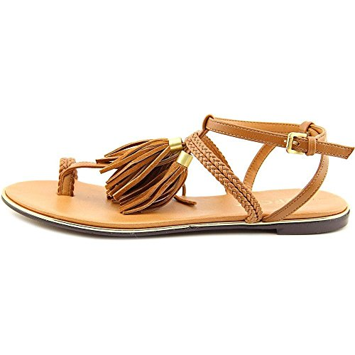 Report Signature Womens Citrine Open Toe Casual T-Strap Sandals, Tan, Size 9.5
