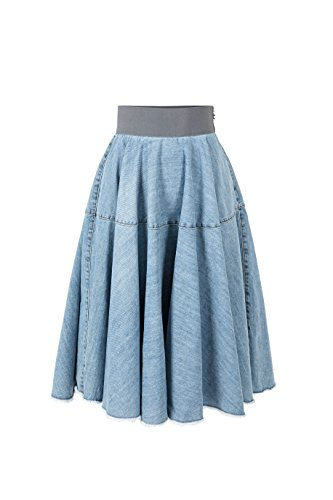 Elisabetta Franchi Gonna Donna GJ01M81E2 Blue Denim