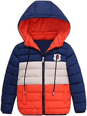 c1aa0cadd50 Unisex Boys Girls Star Printed Hooded Jacket Coat,Mamum Chlidren Boys Winter  Coats Jacket Kids Zipper Thick Wind Snow Hoodie Clothes (Orange, Age 7)