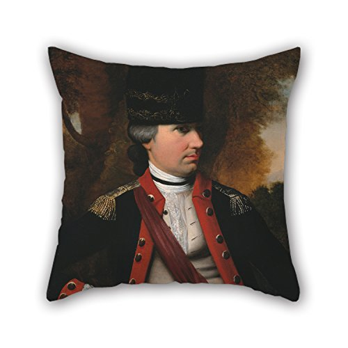 Bestseason Oil Painting Henry Benbridge - Charles Cotesworth Pinckney Throw Pillow Covers 16 X 16 Inches / 40 By 40 Cm Best Choice For Couch,relatives,club,living Room,kitchen,wife With Two ()