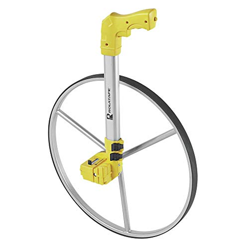 Measuring Wheel, Single, Yellow, 19 in.dia.