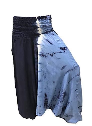 Batik Basso PantaloneTurca La Cavallo Blu Conchiglia Fantasia Harem Pantaloni B0wqUxwH
