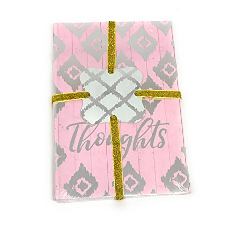 Molly & Rex 3 pack of journals Silver foil -Notes - Thoughts - Words