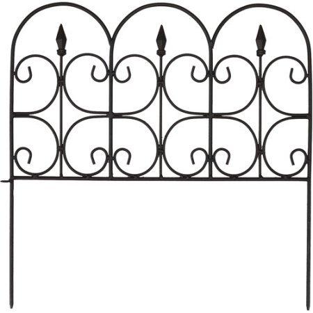 (Victorian Fleur De Lis Medium 16 in. Resin Garden Fence (12-Pack))