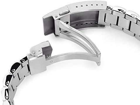 MiLTAT Bracelet de montre 22 mm pour Seiko Turtle SRP773 SRP775 SRP779 Bandoleer Maillons à vis solides