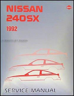 1992 nissan 240sx repair shop manual original nissan amazon com books rh amazon com nissan 240sx manual transmission nissan 240sx manual transmission swap