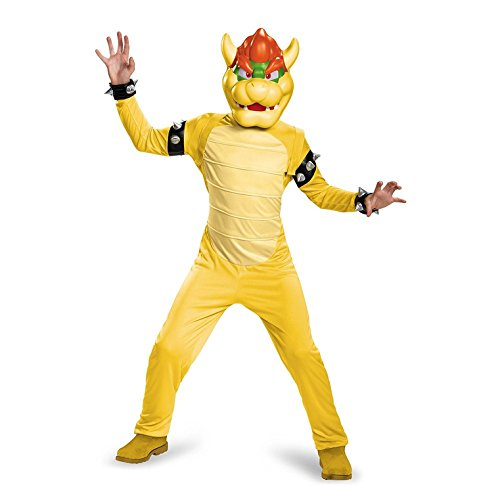 Bowser Deluxe Costume, Medium (Bowser Fancy Dress)