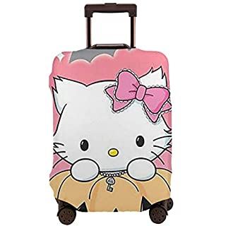 "Lbbb Travel Suitcase Protector - Stylish Hello Kitty and Pumpkin Lantern Travel Luggage Protective Covers for 18""-32"" Suitcase Elastic"