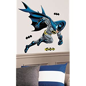 RoomMates Batman Bold Justice Peel and Stick Giant Wall Decal,blue – RMK1864GM