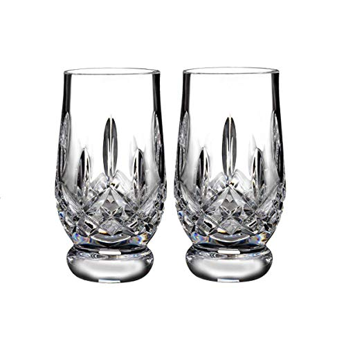 Waterford Crystal Lismore Footed Whiskey Tasting Tumbler Glass Glassware Set of 2 5.5 fl oz -