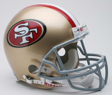 San Francisco 49ers 2009 NFL Riddell Authentic Pro Line Full Size Football Helmet by Riddell