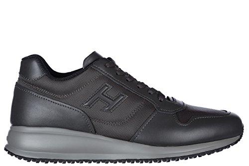 Hogan scarpe sneakers uomo in pelle nuove interactive n20 grigio