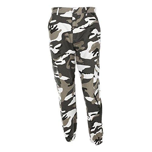 Stampa Libero Jeans Donna Tempo Sportivi Luoluoluo Sciolto Camuffamento Estate Camouflage Hip Pantaloni Cargo A qU0wnaxwv