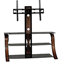 Sauder Veer Panel TV Stand with TV Mount, SGS Non-Wood Finish