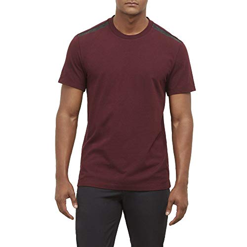 New York Matte Jersey - Kenneth Cole New York Matte Logo Crew Neck Tee - Men's - Wine