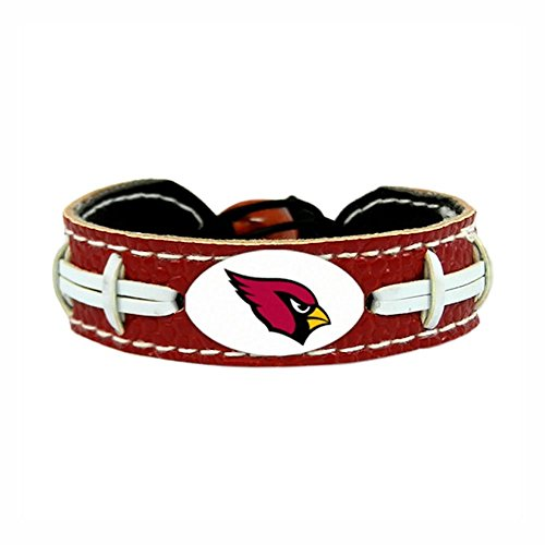 NFL Arizona Cardinals Team Color Gamewear Leather Football Bracelet