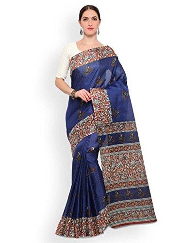 Export Printed Satrani Saree Blue Blend Handicrfats Silk Indian 5IHBq8xH