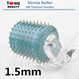 Toexy Beauty 200-Pin Titanium Facial Body Skin Care Massage Roller Beauty Tool