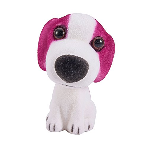 ATMOMO Bernard Dog Nodding Dog Mini Bobble Head Toys for Car Decoration Pug Bobblehead Mini Puppy Dog Car Dashboard Decoration with Aromatherapy Pads