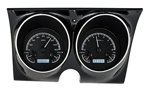Dakota Digital 67 68 Chevy Camaro Pontiac Firebird Analog Gauge Black Alloy White ()
