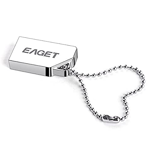 EAGET Flash Drive 32GB Metal Case USB 3.0 Memory Stick High Speed Thumb Drive Keychain Waterproof Shockproof U85