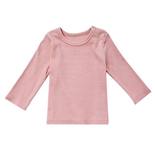 tton Long Sleeve Tee Infant Tops Pink 0-6 Months ()