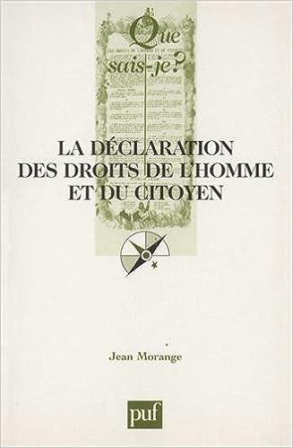 Lire en ligne La Déclaration des Droits de l'Homme et du Citoyen (26 août 1789). 4ème édition pdf, epub
