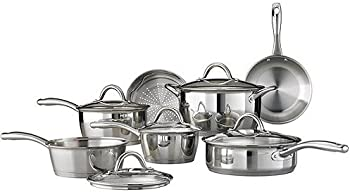 Tramontina Gourmet Stainless Steel Tri-Ply Base 12-Piece Cookware Set