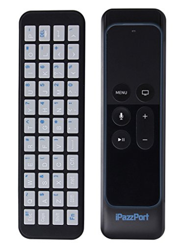 iPazzPort Apple TV Remote Keyboard for New Apple TV 4k and Apple TV 4th Generation with Apple TV Case for Apple TV Siri Remote Bluetooth Connection for Type and Search KP-810-56S by iPazzPort